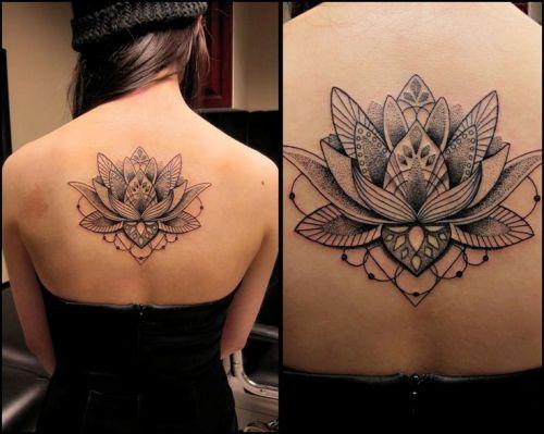 Lotus Flower Tattoo designs For Girls