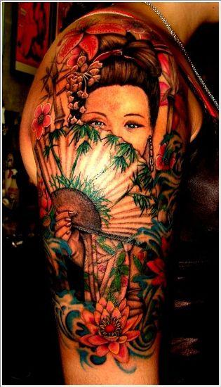 The shy geisha