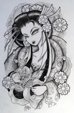 The monochrome geisha