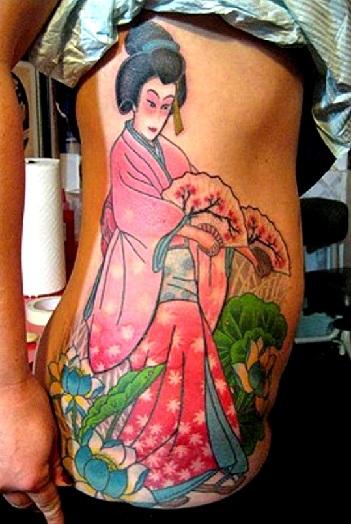 Ethnic Geisha Tattoo