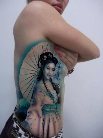 The sober blue geisha