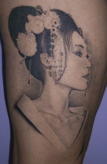 The portrait geisha
