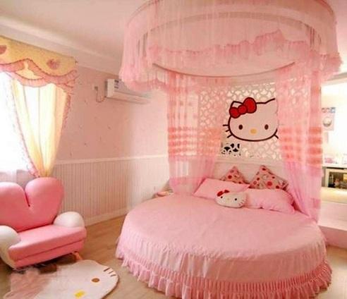 Kitty Theme Girl's Bedroom
