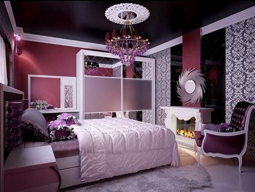 Pinkish Purple Bedroom for Girls