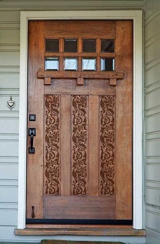 Stencil Pattern Hall Front Door