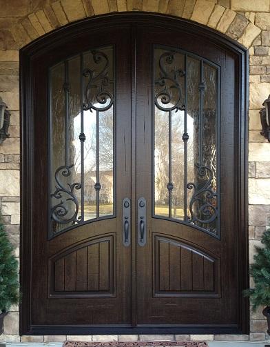 Wood and Glass Hall Door