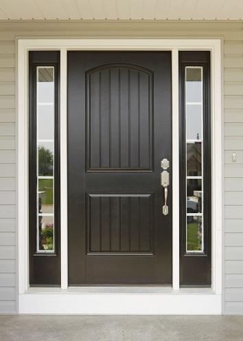 Single Panel Wooden Hall Door