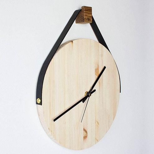 Wooden Hanging Clock
