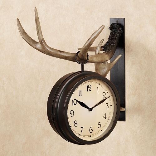 Buckley Resin Deer Wall Clock