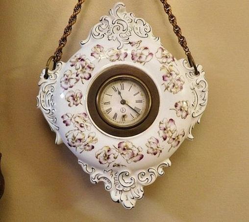 Porcelain Hanging Clock