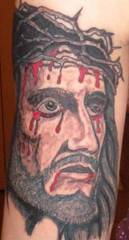 Jesus Tattoo On Forearm