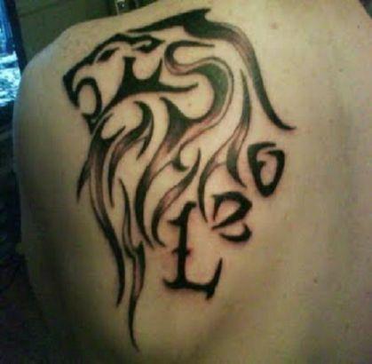 Celtic Lion face Tattoo