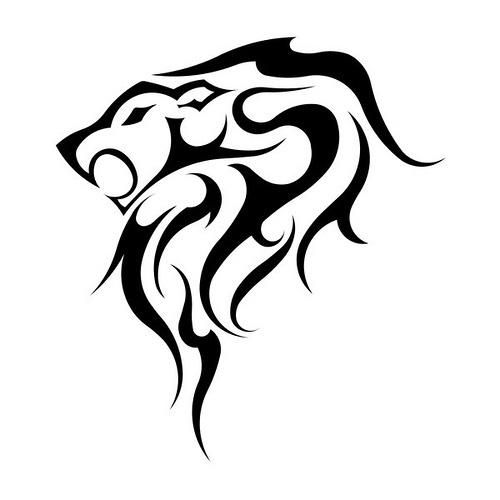 Leo Tribal Tattoo