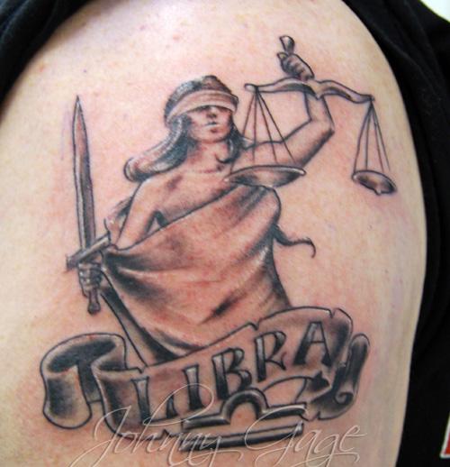 Libra Lady Justice Tattoo