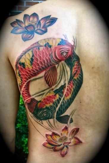 Lotus flower tattoo 4