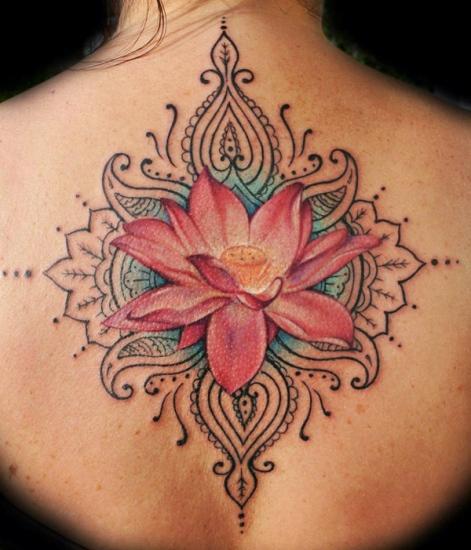 Lotus flower tattoo 5