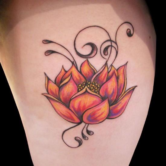 Lotus flower tattoo 7
