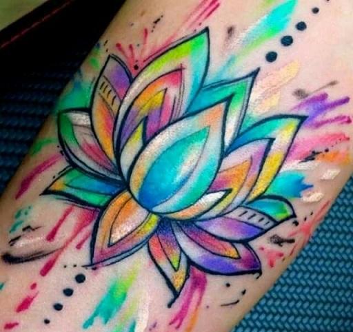 Lotus Flower Tattoo 10