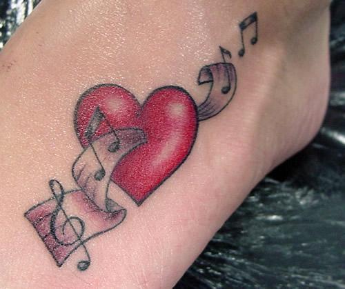 Heart Musical Tattoo