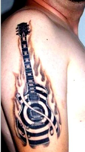 music sign tattoo