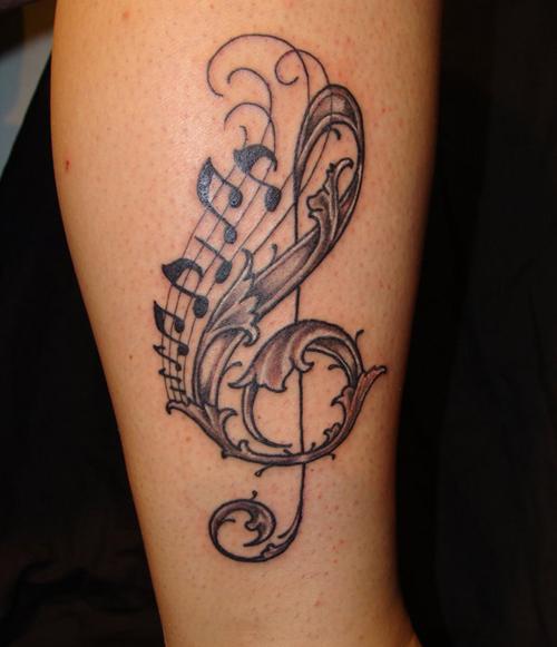 music note tattoo designs