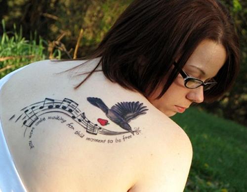 simple music tattoos