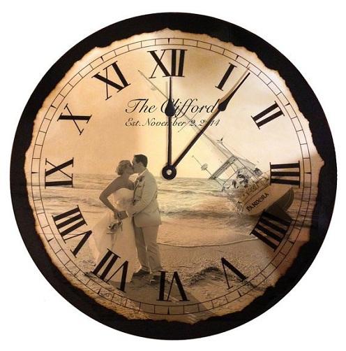 Personalized Wedding Clock