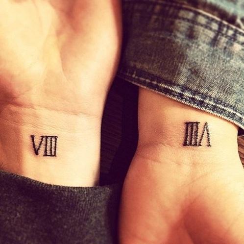 Classy Roman Numeral Tattoo Design