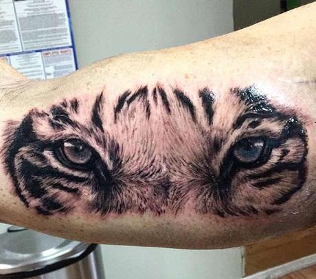 Realistic Tiger Eyes Tattoos