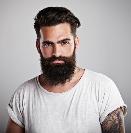Hairstyles for men wavy hair - Short side upward