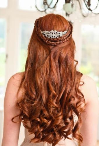 Half-up Half-down Curls