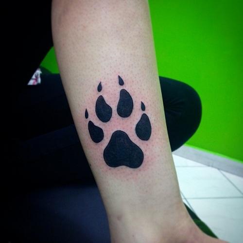 Casual Paw Print Tattoo Designs