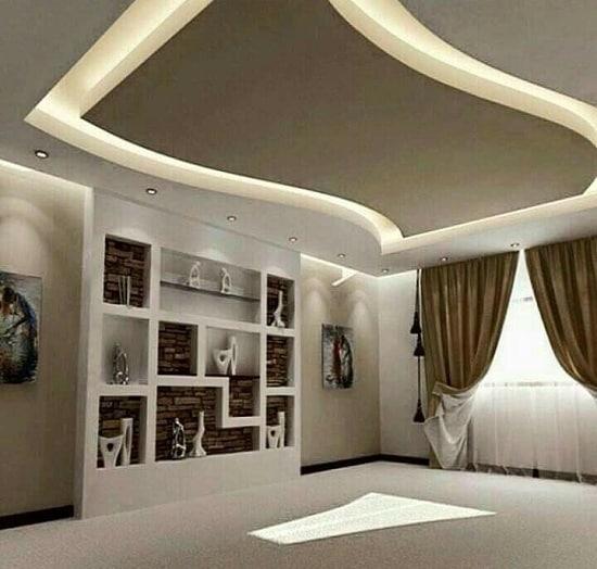 False Ceiling for Square Living Room
