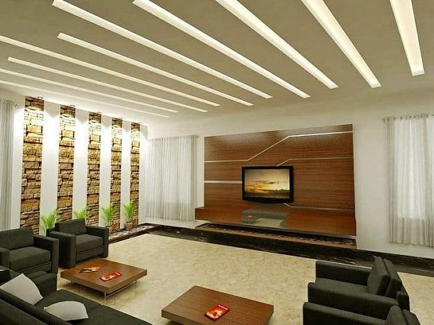 Contemporary Ceiling Design for Living Room