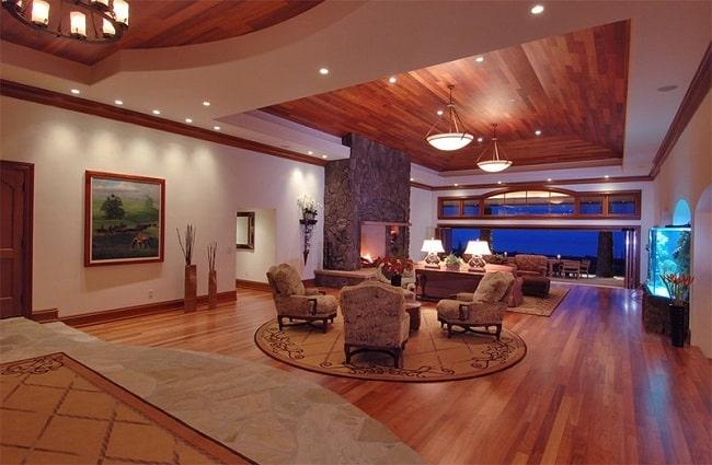 Wooden Ceiling Design for Living Room