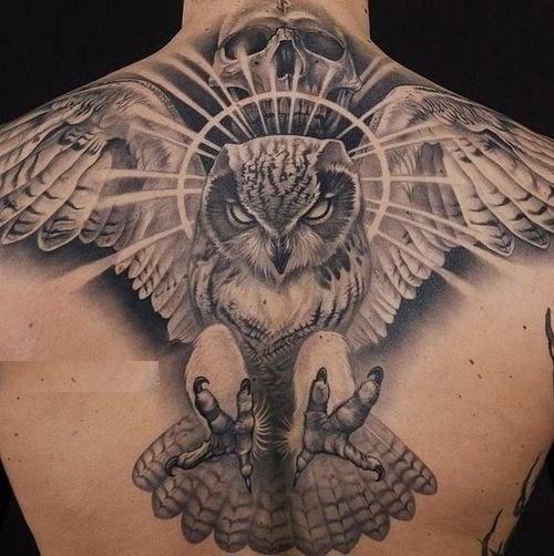 Dangerous owl tattoo