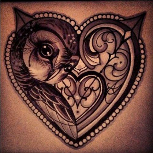 Locked within a heart tattoo