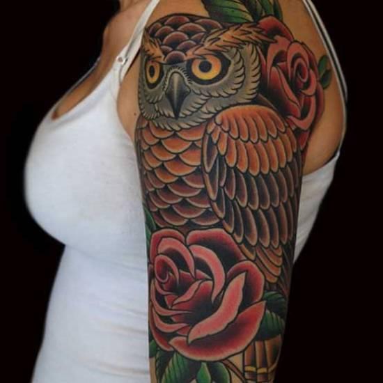 owl tattoo designs 9