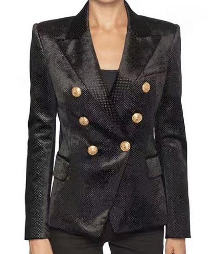 Designer Velvet Blazer Women