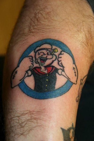 Popeye the Sailor Tattoo