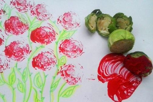 Vegetable Stamping Craft