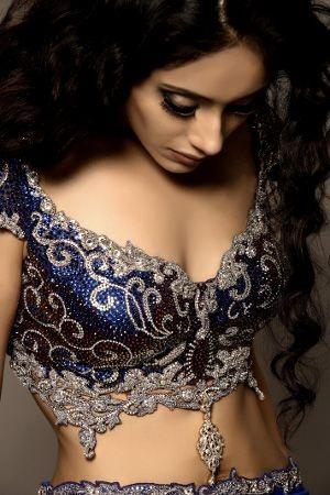 Blue blouse designs6