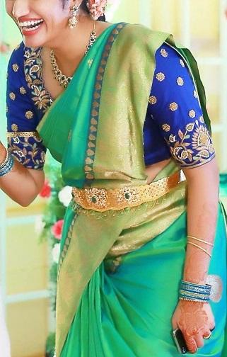 Blue blouse designs7