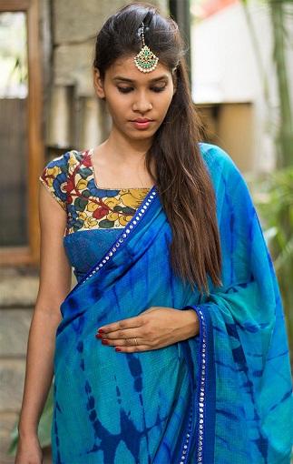 Blue blouse designs8