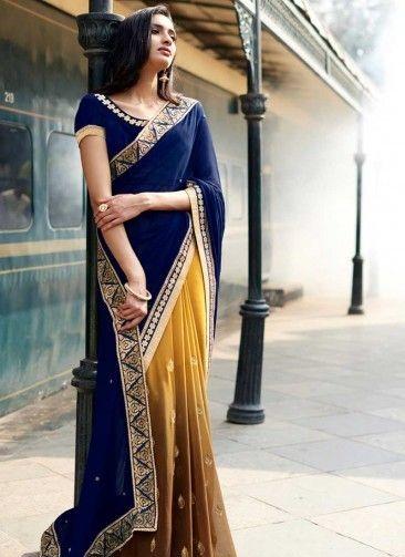 Blue blouse designs3