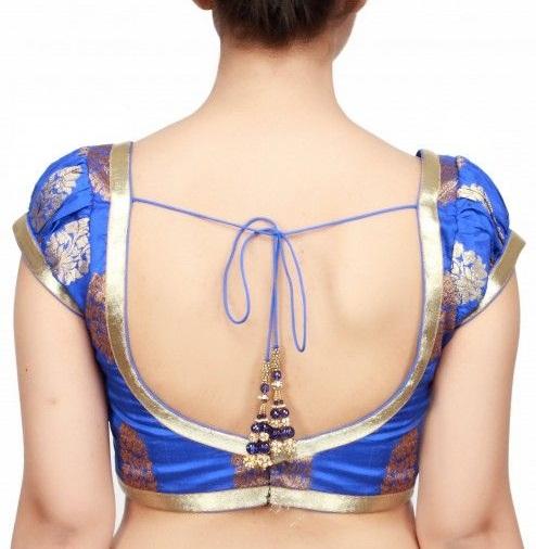 Blue blouse designs4