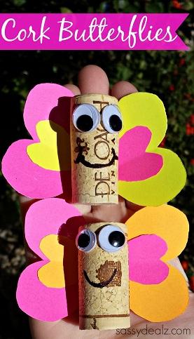 Wine Cork Butterfly Craft