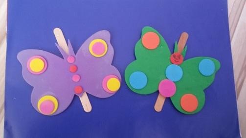 Ice Cream Stick Butterfly Craft