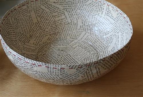 Funny Bowl Newspaper Crafts
