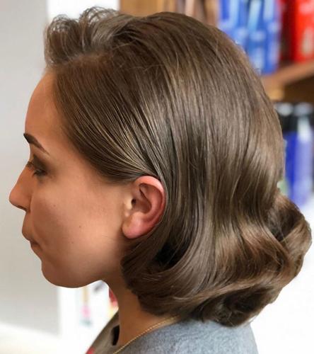 Straightened Short Hairdo